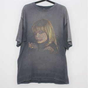 VTG Leann Rimes 90s Distressed Faded T-Shirt S208
